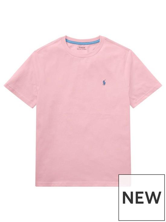9b5822e21825 Ralph Lauren Boys Classic Short Sleeve T-Shirt - Pink