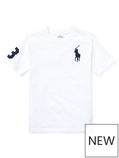 9b0bab45ad2f80 Ralph Lauren Boys Short Sleeve Big Pony T-Shirt - White