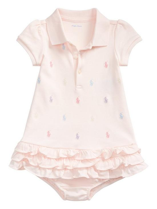 eed612bba7 Ralph Lauren Baby Girls Pony Print Polo Ruffle Dress