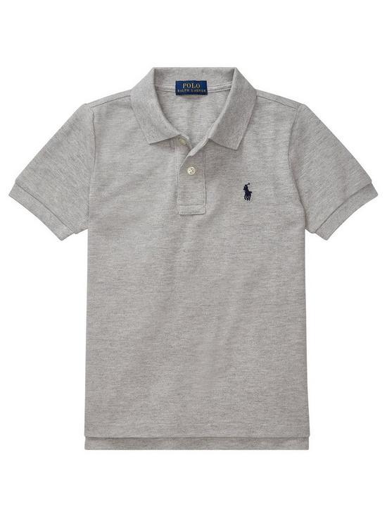 e5a966dfa Ralph Lauren Boys Classic Short Sleeve Polo Shirt - Grey
