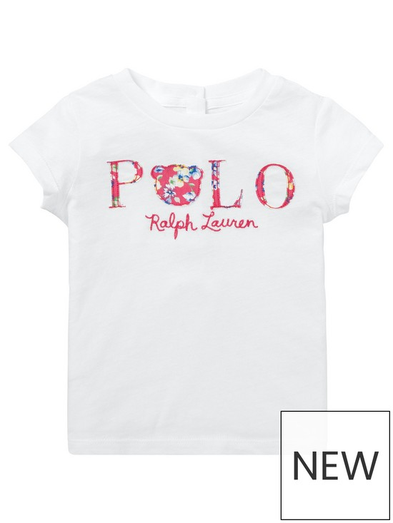 c8a9100512e39 Ralph Lauren Ralph Lauren Baby Girls Short Sleeve Polo T-shirt ...