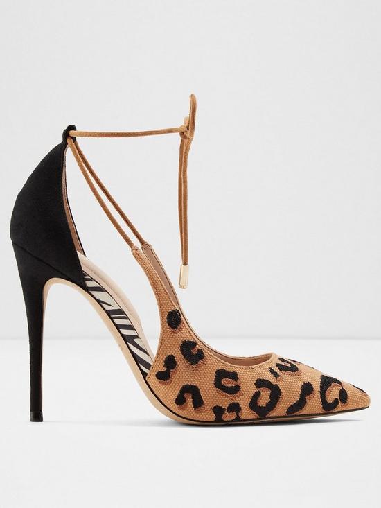 e5156b5afd2 Aldo Realonna Ankle Tie Heeled Court Shoe