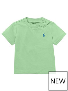 e7682c695dd943 Ralph Lauren Baby Boys Classic Short Sleeve T-shirt - Lime