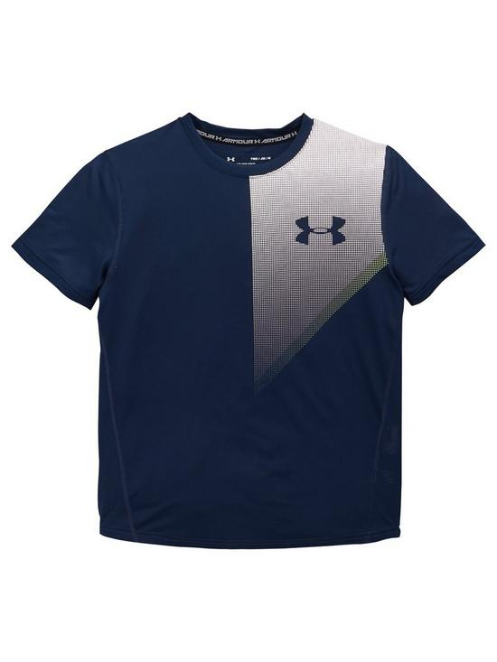 9a079fb2b UNDER ARMOUR Boys Raid Short Sleeve T-Shirt - Navy | very.co.uk