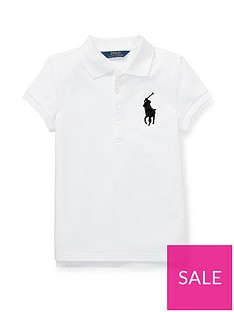 6981f4235 Ralph Lauren Girls Classic Short Sleeve Polo Shirt - White