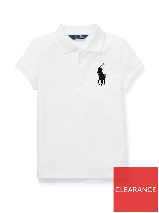 d19f2bad Girls Classic Short Sleeve Polo Shirt - White