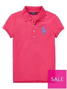 43967b59b Ralph Lauren Girls Big Pony Short Sleeve Polo Shirt - Pink