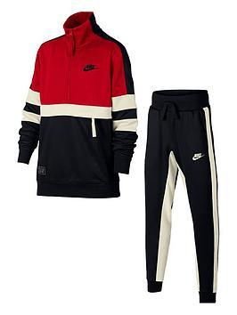 nike-boys-air-tracksuit-redblack