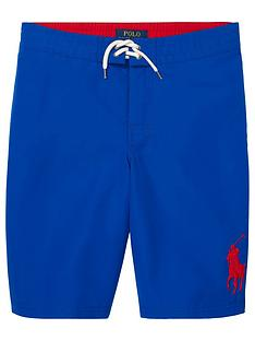 0be40272a Ralph Lauren Boys Big Pony Swim Shorts - Royal Blue