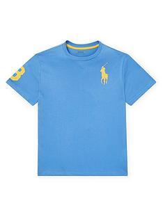 a225f4fa9b3bb Ralph Lauren Boys Short Sleeve Big Pony T-Shirt - Light Blue