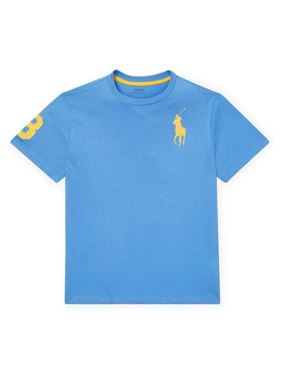3cdc512e16 Boys Short Sleeve Big Pony T-Shirt - Light Blue