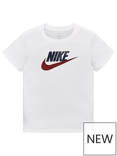 f4d7df1f Nike Sportswear Girls Futura T-Shirt - White/Blue/Red