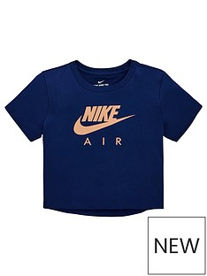 on sale eda47 c7005 Nike Air Girls Crop T-Shirt - Blue