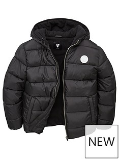 v-by-very-boys-fleece-lined-padded-hooded-coat-black
