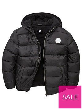 v-by-very-boys-fleece-lined-padded-hooded-coat-black