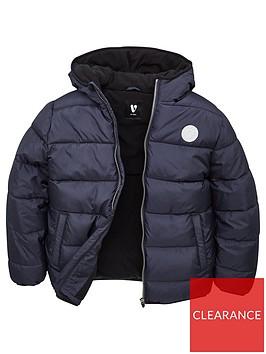 v-by-very-boys-fleece-lined-padded-hooded-coat-navy