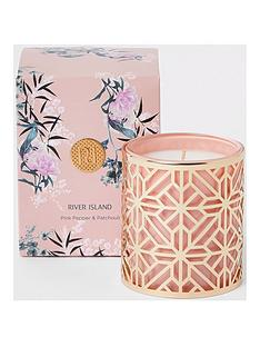 river-island-pink-floral-caged-core-scented-candle-ndash-pink-pepper-and-patchouli