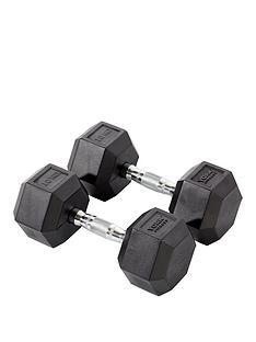 york-rubber-hex-dumbbell-pair-2-x-10kg