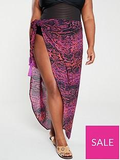 v-by-very-curve-sarong-skirt--nbspsnake-printnbsp