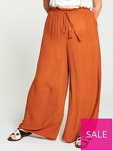 v-by-very-curve-crinkle-palazzo-trouser-rust