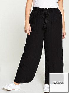 v-by-very-curve-crinkle-palazzo-trouser-black