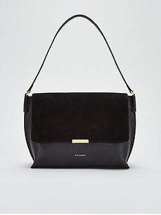 ted-baker-louissanbspsuede-bar-detail-shoulder-bag-black