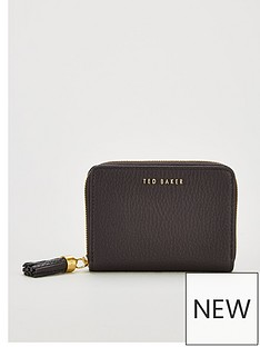 ted-baker-sabelnbsptassel-zip-around-small-purse-black