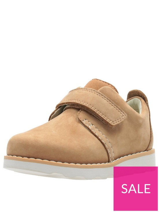f8f4e785608c4 Clarks Toddler Crown Park Leather Shoes - Tan | very.co.uk