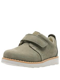 63cf193b09 Clarks Toddler Crown Park Leather Shoes - Khaki