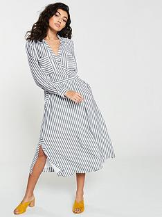 whistles-mix-amp-match-wrap-shirt-dress-grey