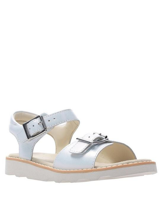 c9ae86a15c1c9 Clarks Crown Bloom Sandal - White | very.co.uk