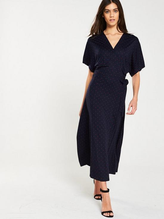 da6a6c03c26 WHISTLES Spot Wrap Jersey Dress | very.co.uk