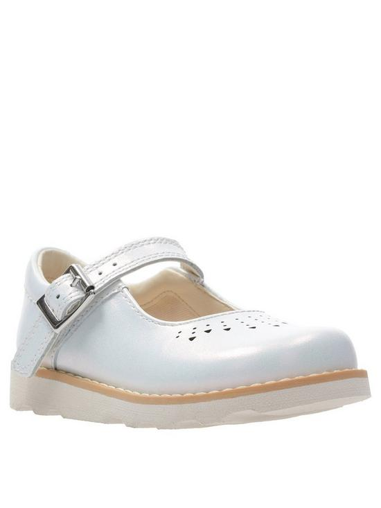 a8a3f74e4ae369 Clarks Toddler Crown Jump Shoes - White | very.co.uk