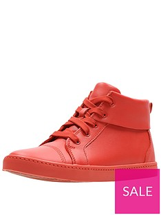 clarks-city-oasis-high-top-trainers--nbsporange