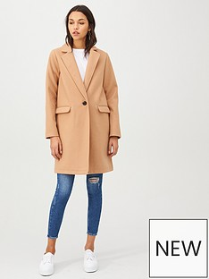 d1568d402 V by Very Petite Single Breasted Coat - Camel