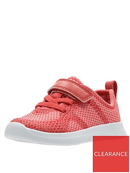 clarks-toddler-flux-trainers-coral