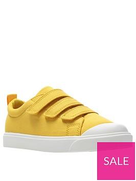 clarks-city-flare-lo-canvas-plimsolls-yellow