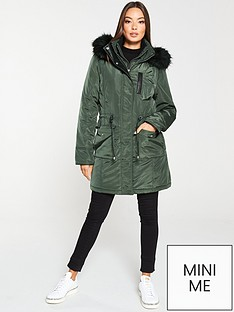 v-by-very-premium-double-zip-pu-trim-parka-khaki
