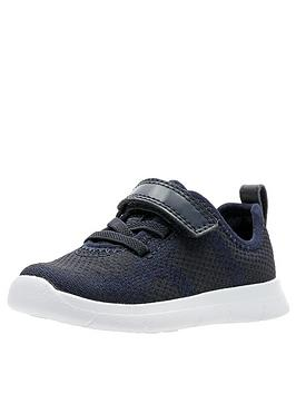 clarks-toddler-flux-trainers-navy