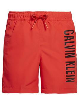 calvin-klein-boys-logo-swim-shorts-red