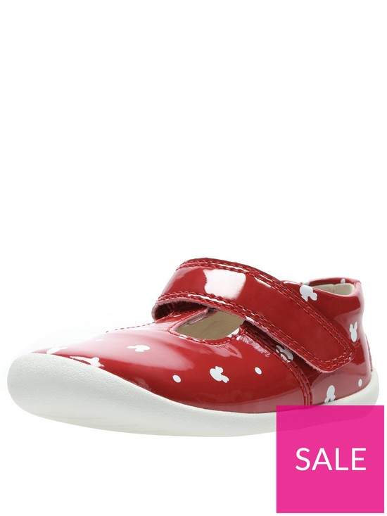 7884c6f531 Clarks Minnie Mouse Roamer Polka First Shoe | very.co.uk