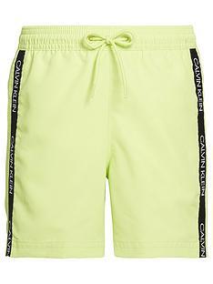calvin-klein-boys-logo-tape-swim-shorts-green