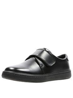 b708ee27f34 Clarks Street Shine School Shoes - Black