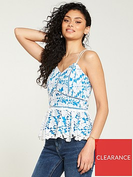 v-by-very-geo-lace-caminbsp--blue