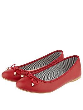 accessorize-coralie-plain-ballerina-flats-red
