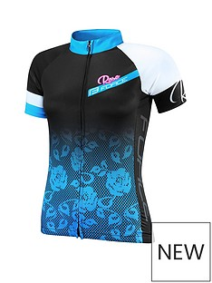 force-rose-ladies-cycling-jersey-blackblue
