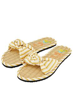 accessorize-ciao-bella-seagrass-sliders-yellow