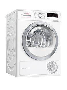 Bosch Serie 4 WTW85231GB 8kg Condenser Tumble Dryer with Heat Pump Technology - White