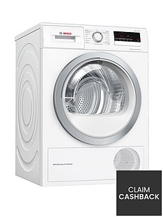 Bosch Serie 4 WTW85231GB 8kg Condenser Tumble Dryer with Heat Pump Technology - White