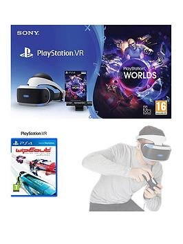 Playstation Vr Starter Pack With Wipeout Omega Collection And Optional Move Motion Controller - + Move Motion Controller